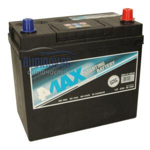 4MAX 45Ah 330A R+ акумулатор от budinov.bg онлайн магазин за авточасти