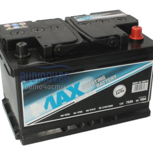 4MAX 75Ah 700A R+ акумулатор от budinov.bg онлайн магазин за авточасти
