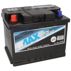 4MAX 60Ah 510A L+ акумулатор от budinov.bg онлайн магазин за авточасти