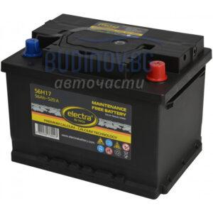 Electra 56Ah 520A акумулатор от budinov.bg онлайн магазин за авточасти