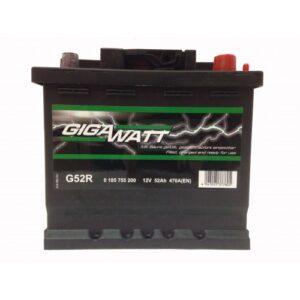 Gigawatt 52Ah 470A R+