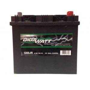Gigawatt Asia 60Ah 510A R+ акумулатор от budinov.bg онлайн магазин за авточасти