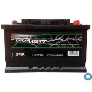 Gigawatt 70Ah 640A R+ акумулатор от budinov.bg онлайн магазин за авточасти