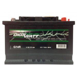 Gigawatt 74Ah 680A R+ акумулатор от budinov.bg онлайн магазин за авточасти