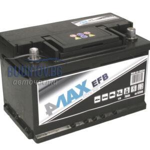 4MAX 70Ah 650A EFB R+ акумулатор от budinov.bg онлайн магазин за авточасти