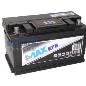 4MAX 80Ah 730A EFB R+ акумулатор от budinov.bg онлайн магазин за авточасти
