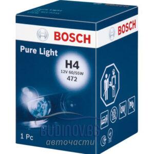 Крушка H4 Bosch Pure Light от budinov.bg онлайн магазин за авточасти