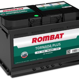 Rombat Tornada Plus 75Ah 700A R+ акумулатор от budinov.bg онлайн магазин за авточасти