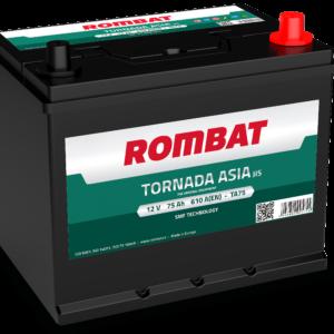 Rombat Tornada Asia 75Ah 610A R+ акумулатор от budinov.bg онлайн магазин за авточасти