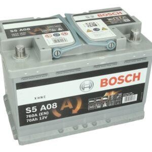Bosch 70Ah 760A S5 AGM R+ акумулатор от budinov.bg онлайн магазин за авточасти