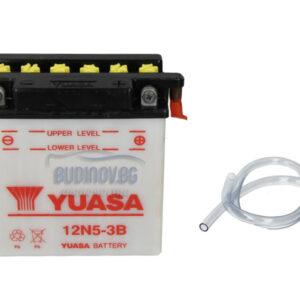 Yuasa 5Ah 35A R+ Мото акумулатор от budinov.bg онлайн магазин за авточасти