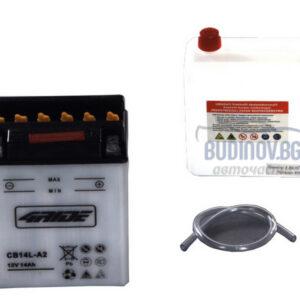 4Ride 14Ah 190A R+ мото акумулатор от budinov.bg онлайн магазин за авточасти