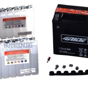 4Ride 14Ah 230A AGM L+ мото акумулатор от budinov.bg онлайн магазин за авточасти