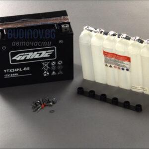 4Ride 24Ah 350A AGM R+ мото акумулатор от budinov.bg онлайн магазин за авточасти